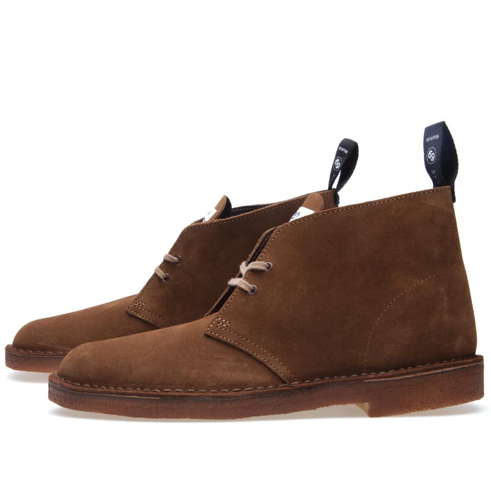 wtaps x clarks originals desert boot brown. Black Bedroom Furniture Sets. Home Design Ideas