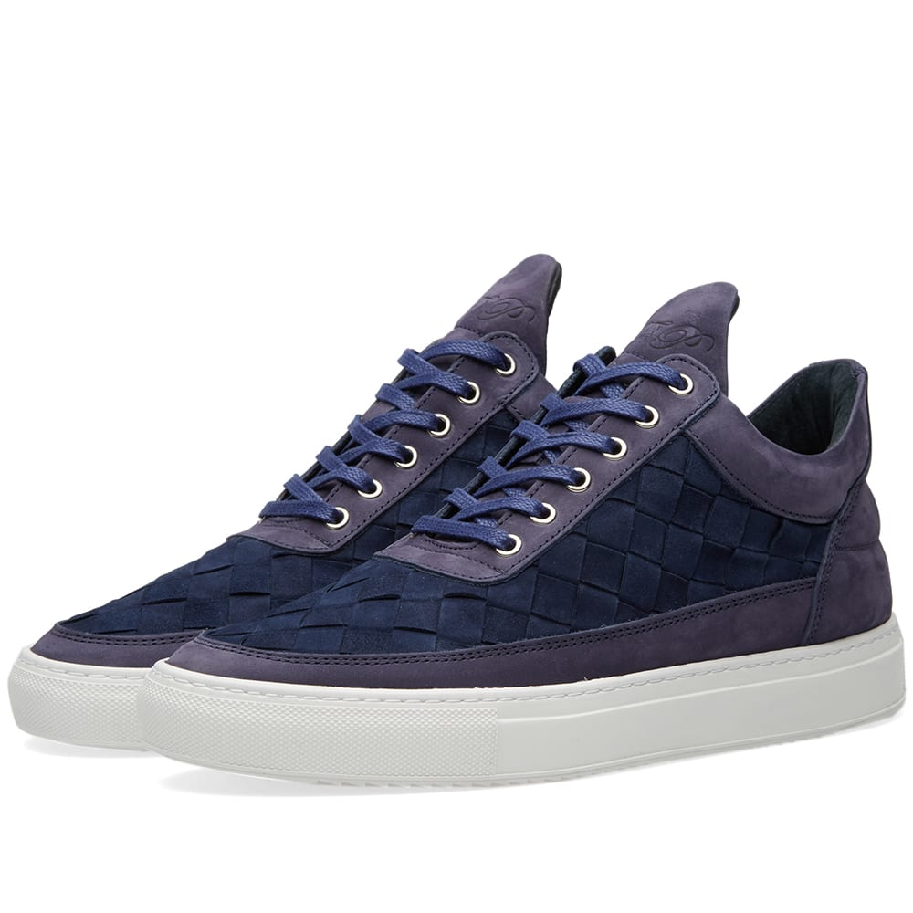 filling pieces low top sneaker navy woven gradient. Black Bedroom Furniture Sets. Home Design Ideas