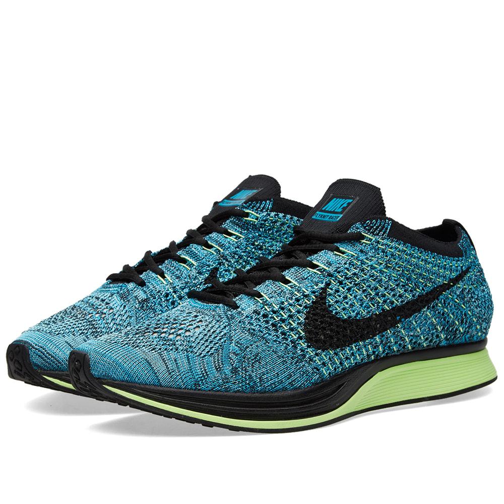 Nike Flyknit Racer (Blue Lagoon u0026 Black)