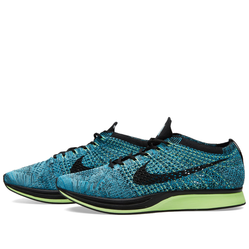 official photos 567df 337f7 Nike Flyknit Racer Blue Lagoon   Black   END.