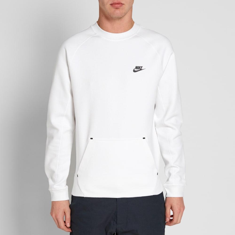 c7e7a354 Nike Tech Fleece Crew White & Black | END.