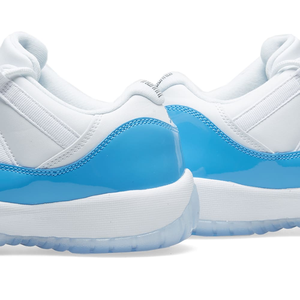 8638092bd10d Nike Air Jordan 11 Retro Low BG White   University Blue