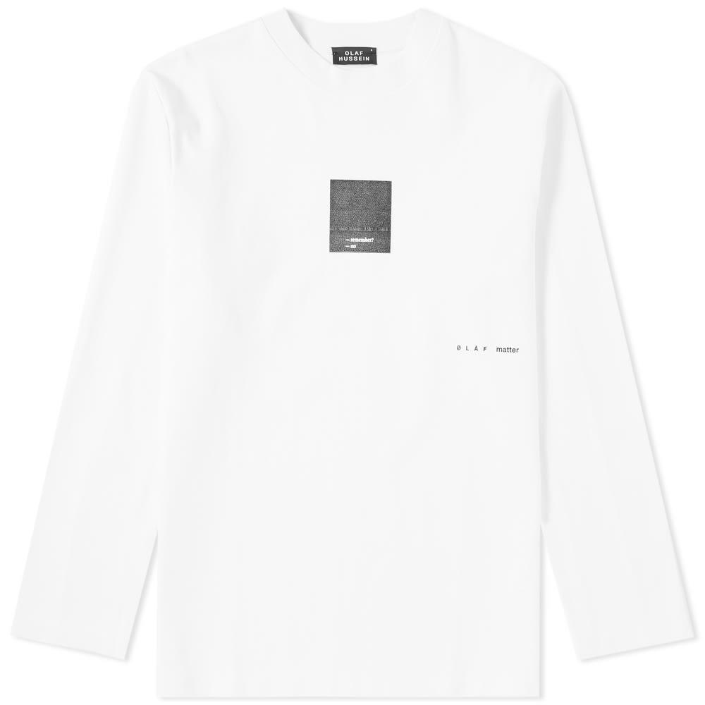 OLAF HUSSEIN Olaf Hussein Long Sleeve We Evolve Tee in White