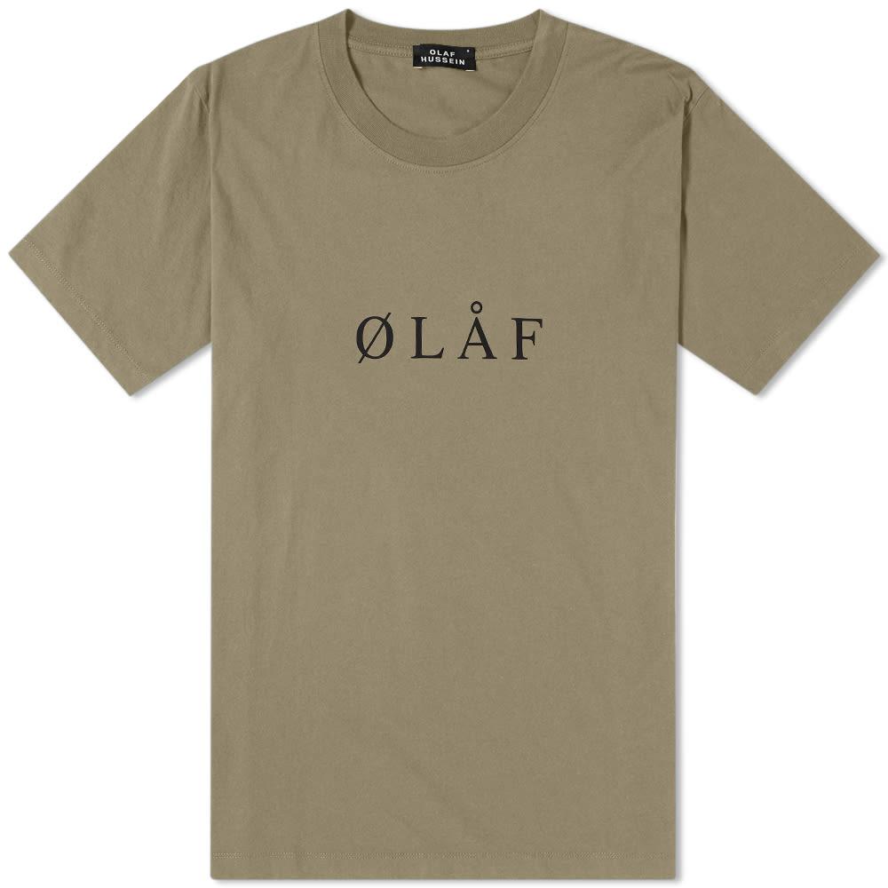 OLAF HUSSEIN Olaf Hussein Ølåf Serif Tee in Green