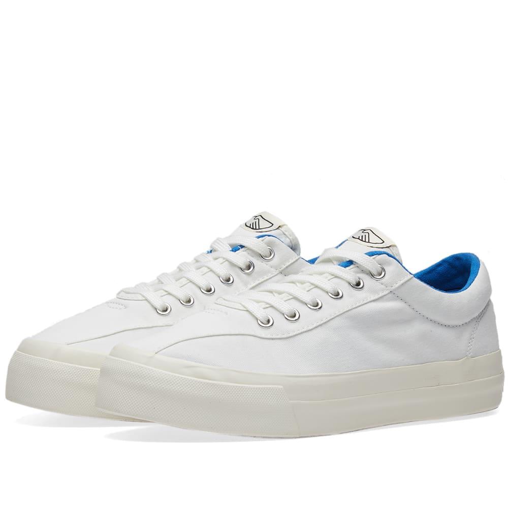 STEPNEY WORKERS CLUB Stepney Workers Club Dellow Canvas Sneaker in White
