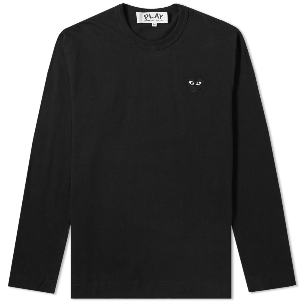 bfeff45a74a0 Comme des Garcons Play Long Sleeve Tee Black   Black