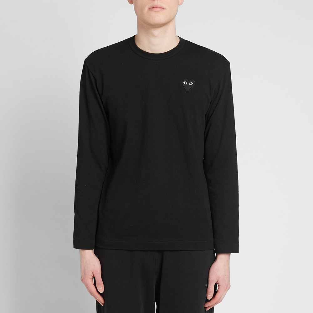 0218f2bb Comme des Garcons Play Long Sleeve Tee Black & Black | END.