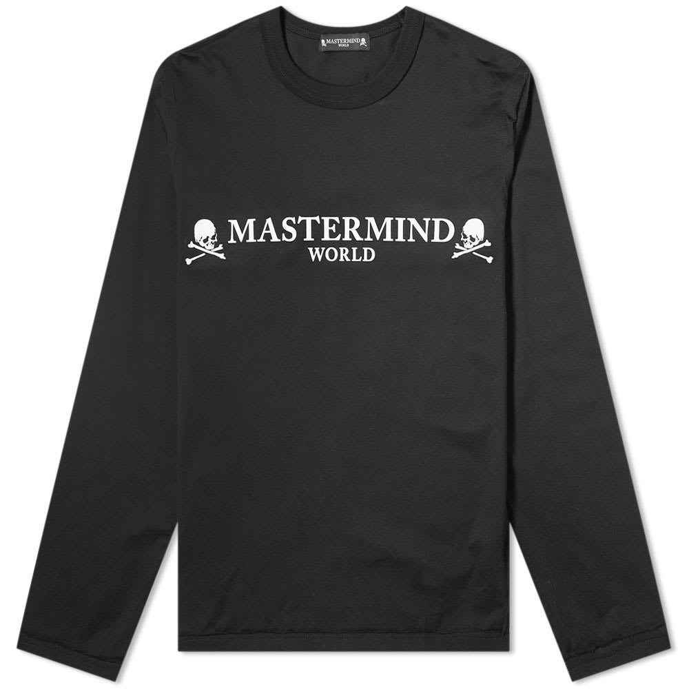 new lower prices outlet online official images MASTERMIND WORLD Long Sleeve Logo Tee Black | END.