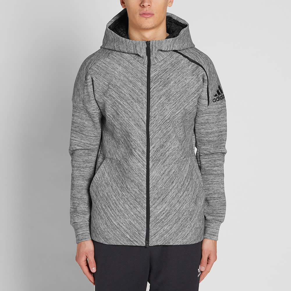 adidas Cotton Z.n.e. Road Trip Hoodie in Grey (Gray) for Men