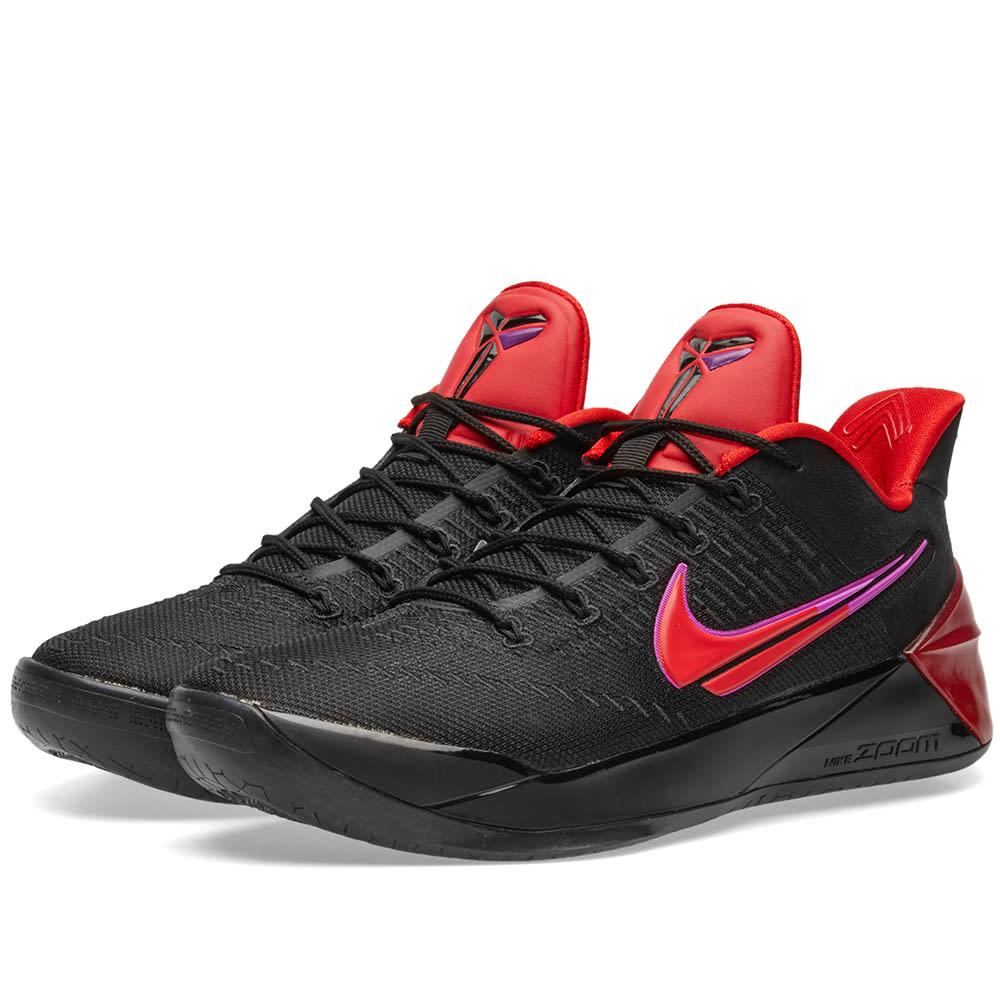 9e8e137bc46 Nike Kobe AD Black   University Red