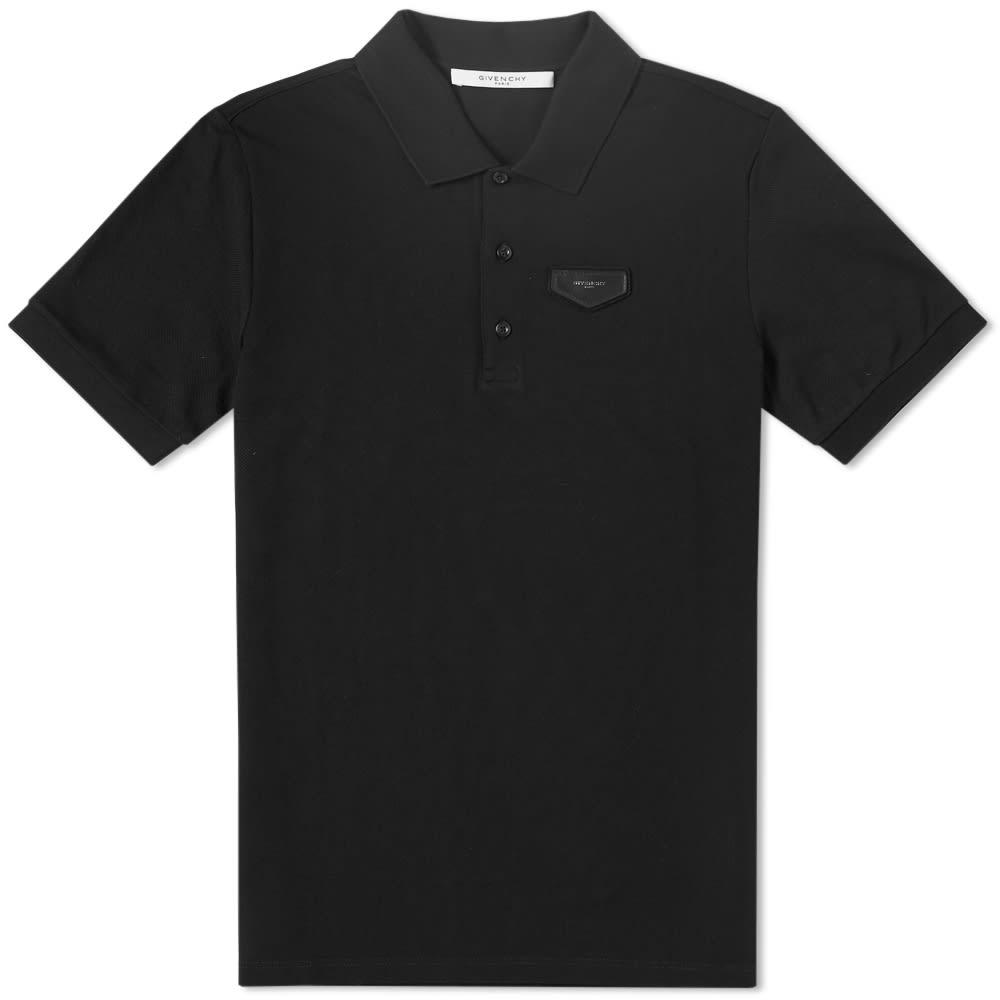 Givenchy Antigona Piquet Cotton Polo Shirt In Black