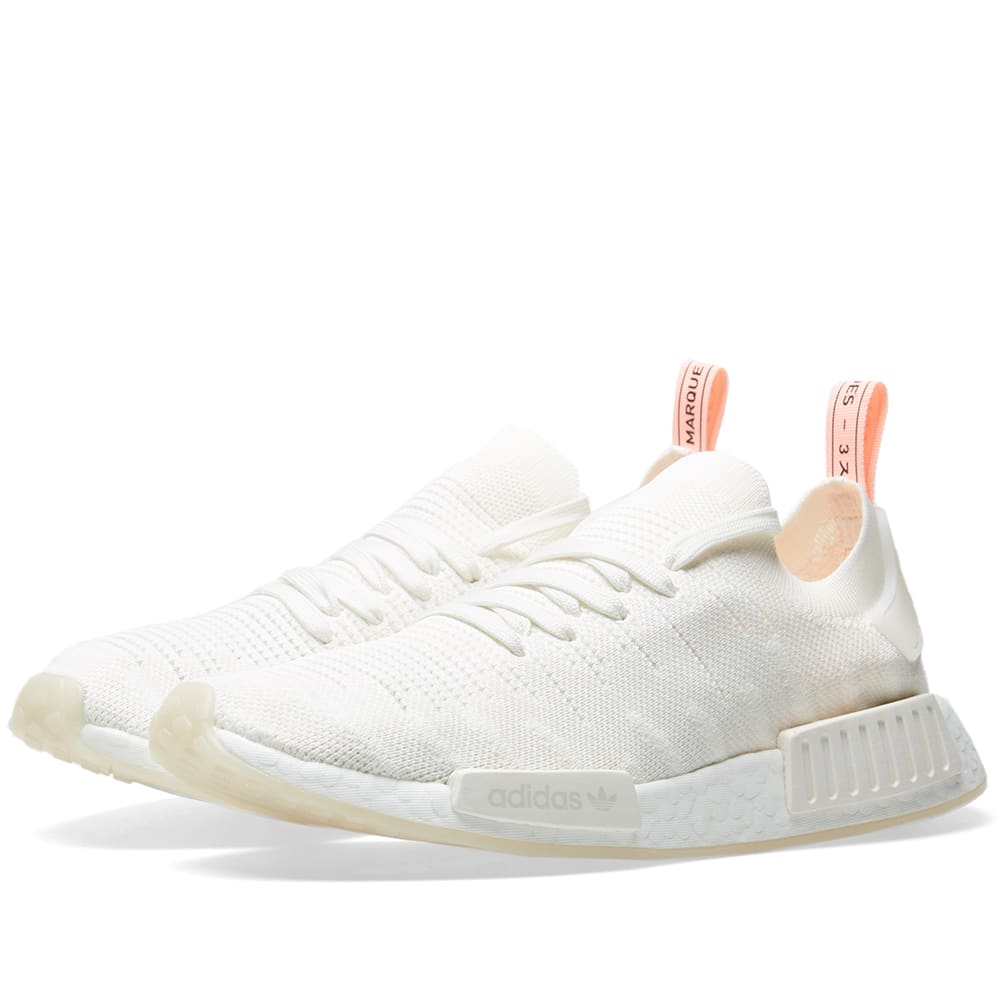 a8ab9269ed7cf Adidas NMD R1 STLT PK W Cloud White   Clear Orange