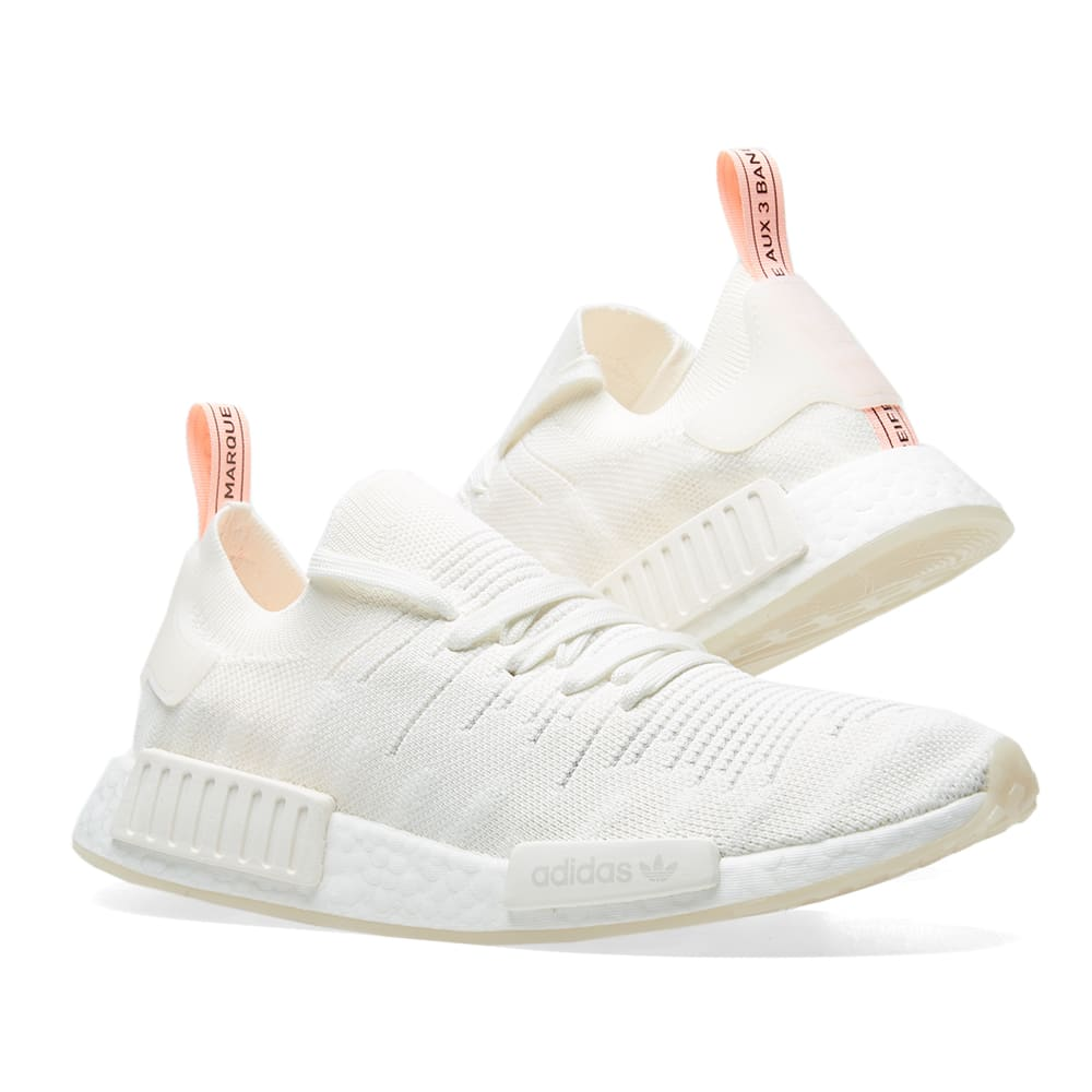 2b767be35 Adidas NMD R1 STLT PK W Cloud White   Clear Orange