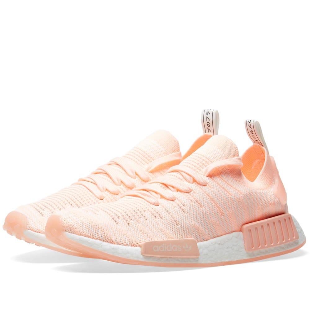 lowest price d2692 a9e8f Adidas NMD R1 STLT PK W Clear Orange   Cloud White   END.