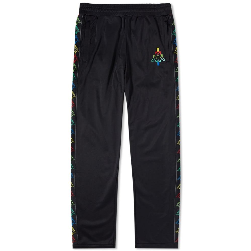 MARCELO BURLON COUNTY OF MILAN Marcelo Burlon X Kappa Multicolour Taped Track Pant in Black