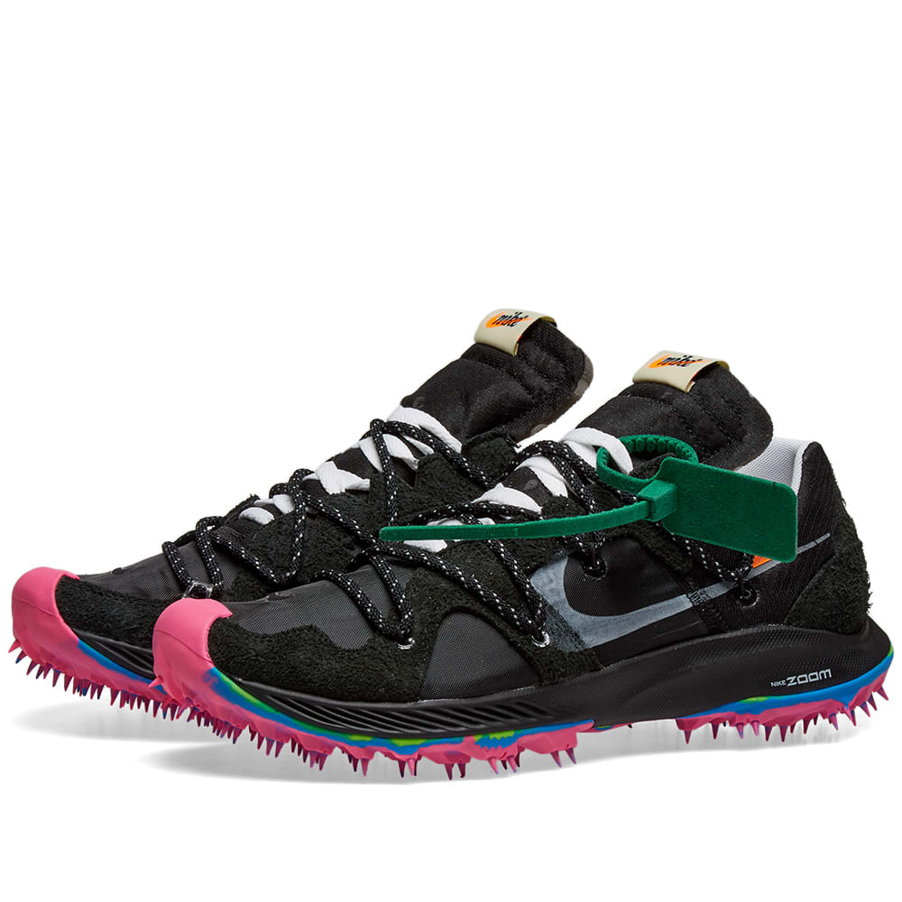 catch the latest where can i buy Nike x Off-White Zoom Terra Kiger 5 Black, Metallic Silver & Pink ...