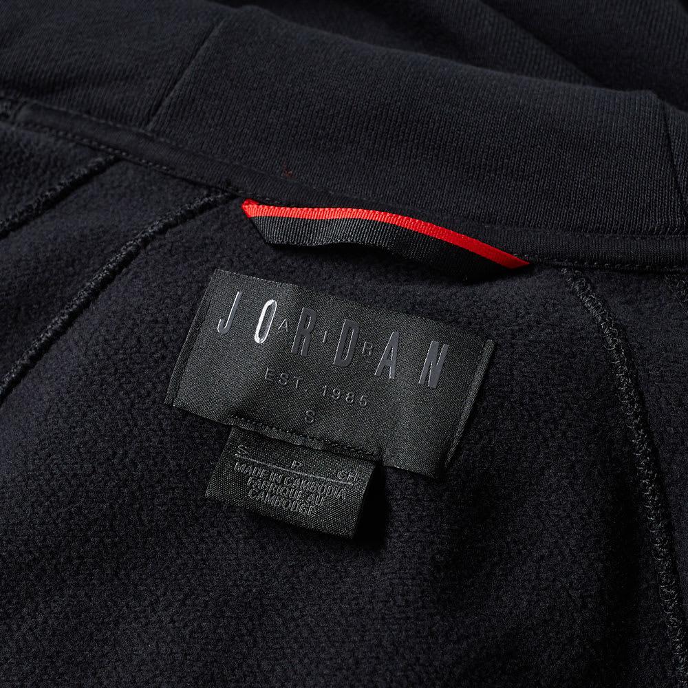 ea8fc505683b85 Nike Jordan Wings Zip Hoody Black