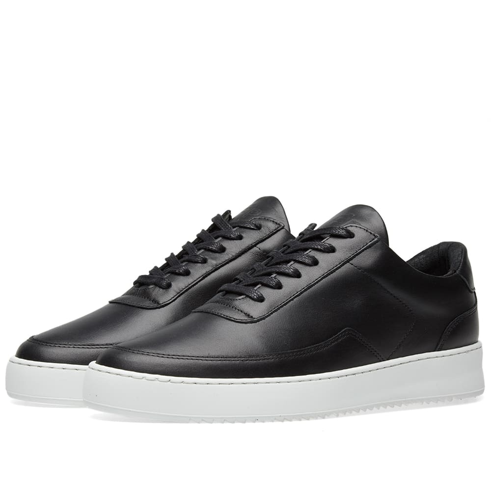 c00c672cbc457f Filling Pieces Low Mondo Ripple Nardo Nappa Leather Sneaker Black