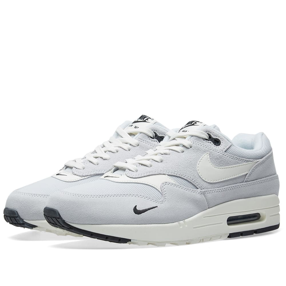 buy online 97d80 ac500 Nike Air Max 1 Premium Platinum, Sail, Black   White   END.