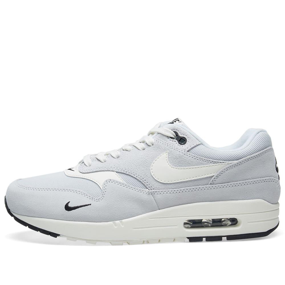 buy online d6ec5 35e05 Nike Air Max 1 Premium Platinum, Sail, Black   White   END.