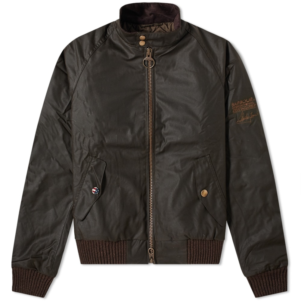 Barbour Steve Mcqueen Merchant Wax Jacket Olive End