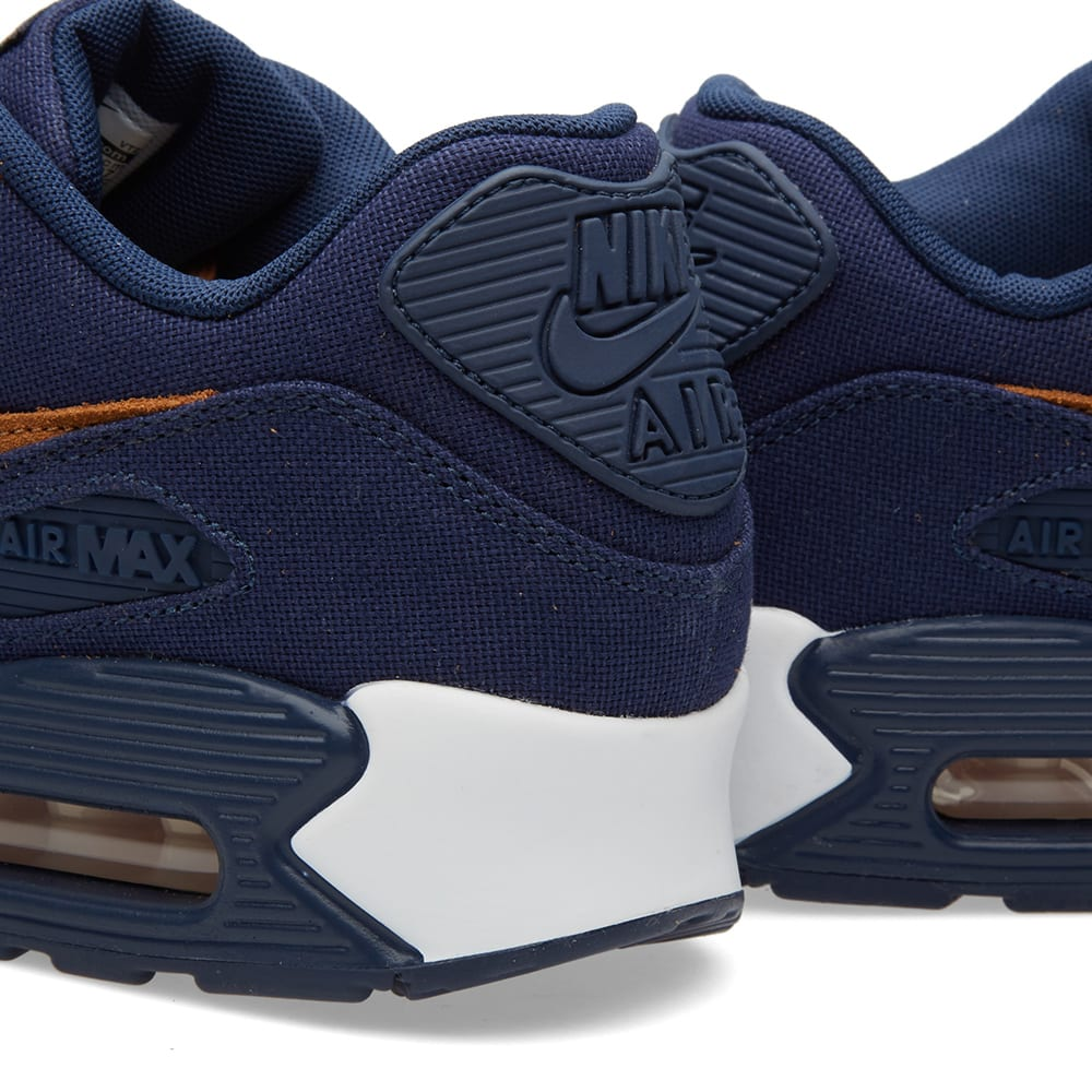Nike Air Max 90 Premium Suede Shoes Womens in Midnight Navy