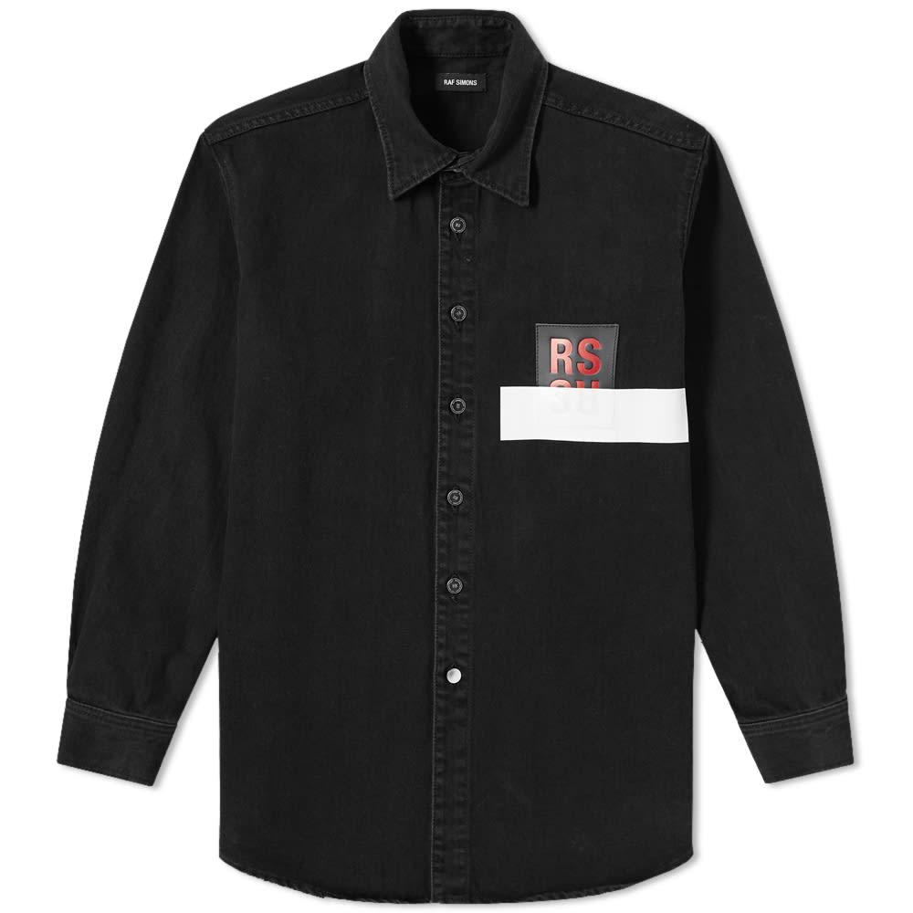 dd1683020 Raf Simons Patch Denim Shirt Black | END.