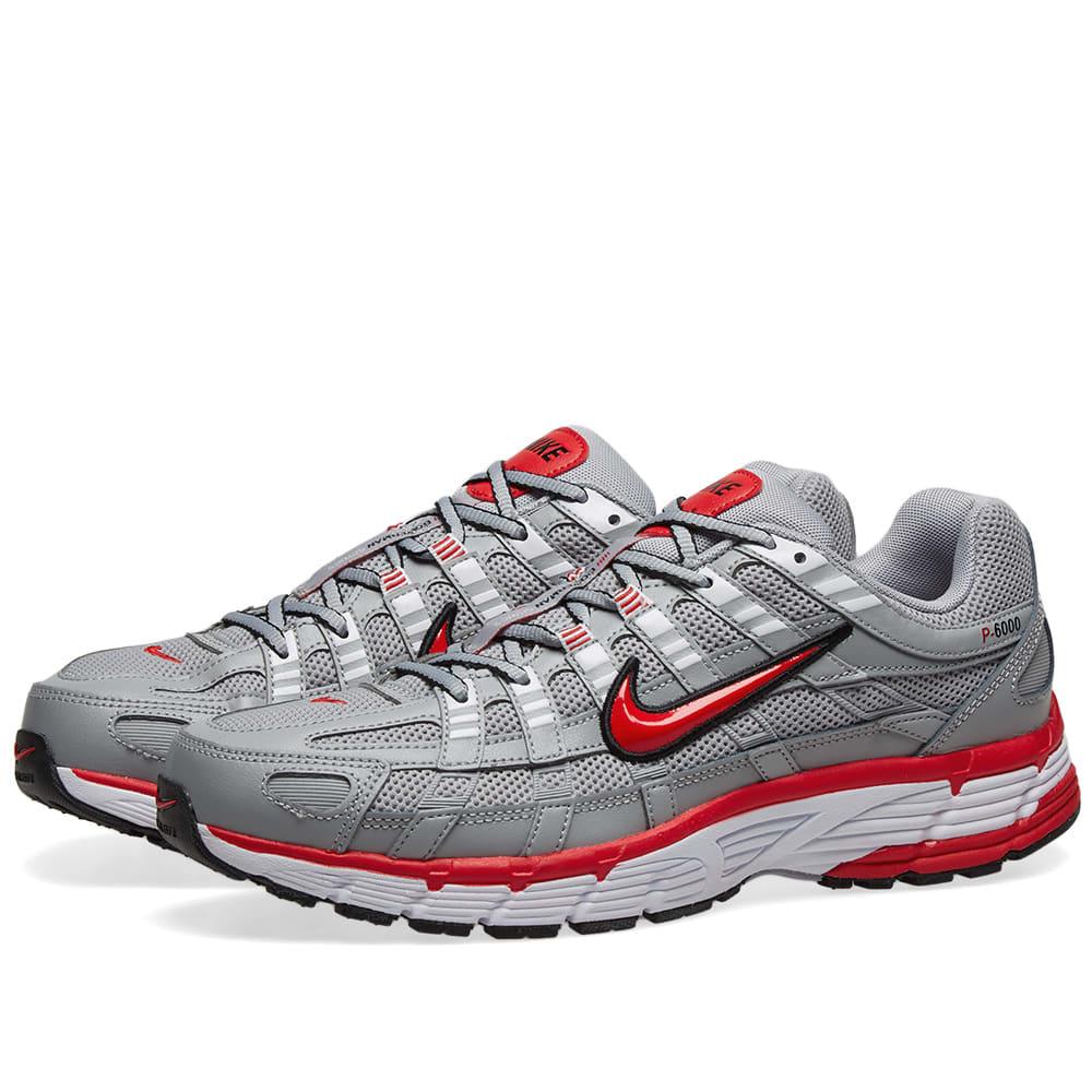 Nike P-6000 Grey, Red, Black \u0026 White | END.