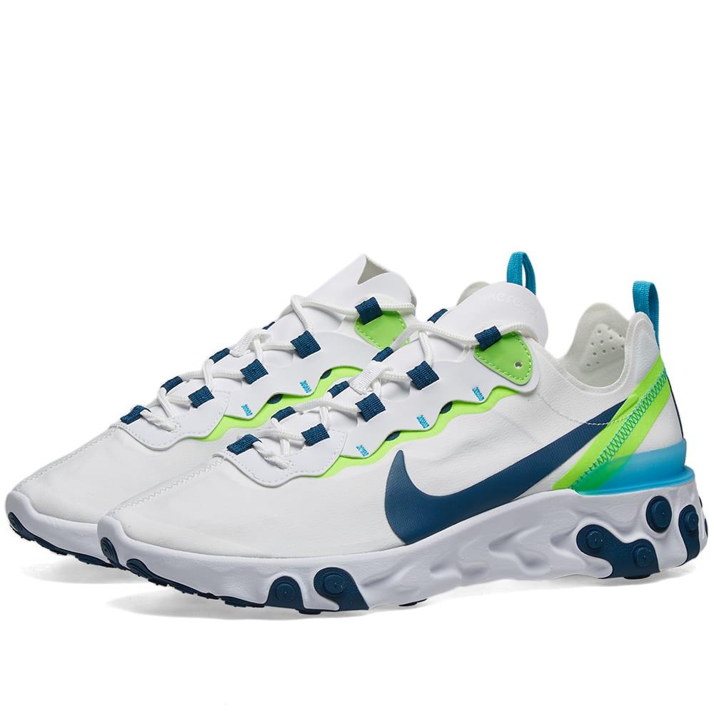 Nike React Element 55 W White, Blue
