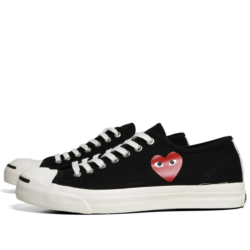 e1206171dc0a Comme des Garcons Play x Converse Jack Purcell Ox Black   Red