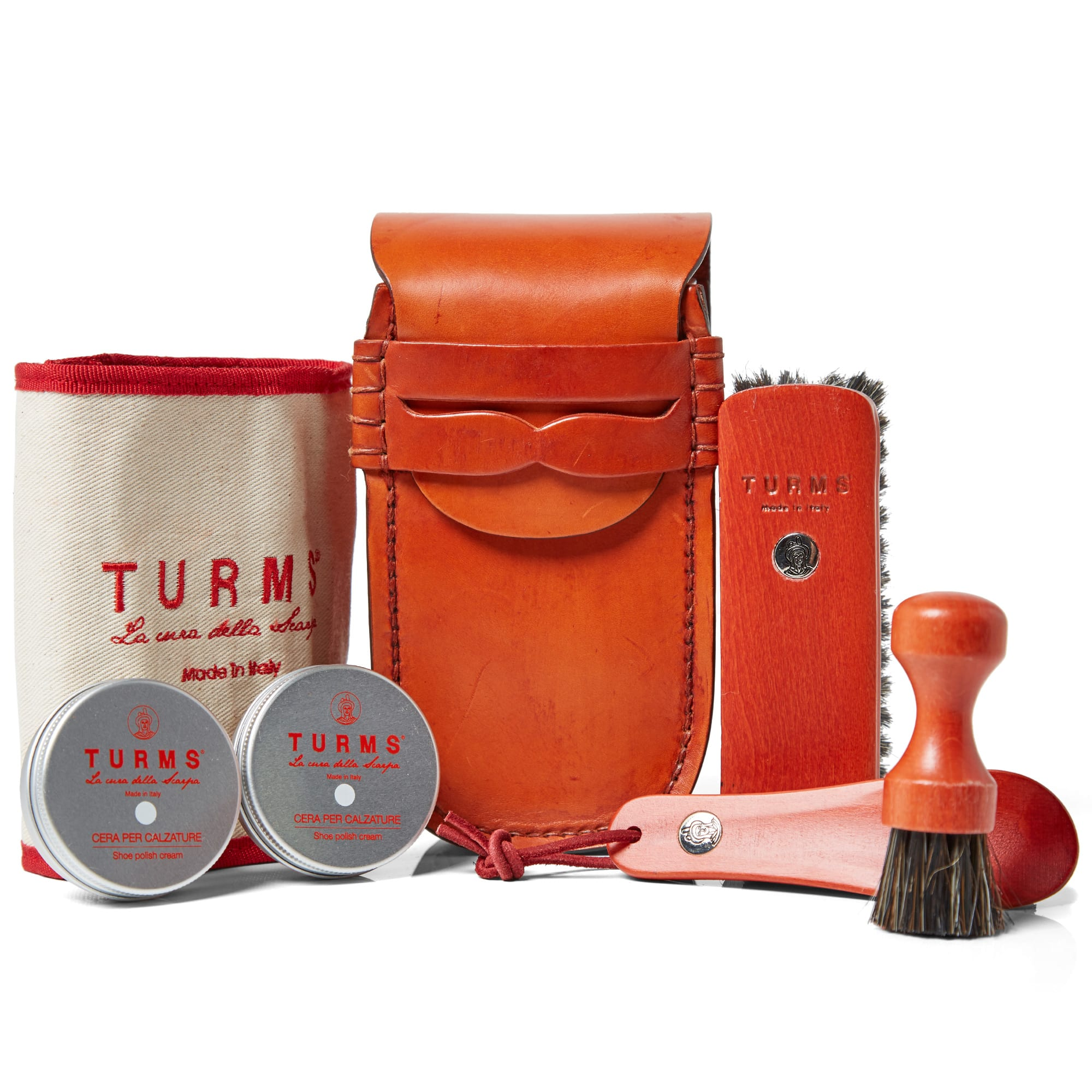 TURMS Turms Hand Stitched College Care Kit in Red