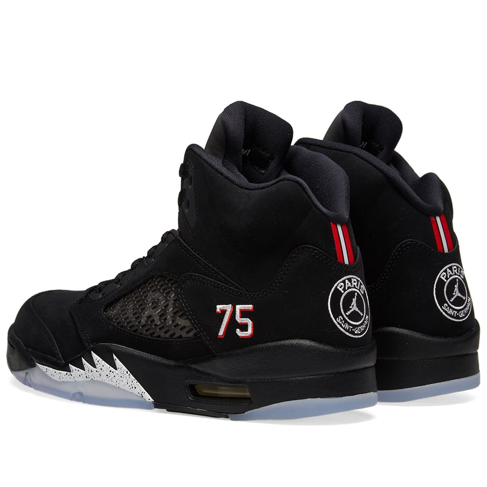 huge selection of c984c 5fa83 Jordan x Paris Saint-Germain Air Jordan 5 Retro Black   END.