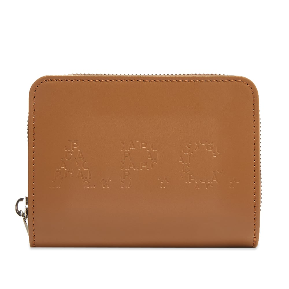 A.P.C. Emmanuel Embossed Logo Zip Wallet PXBGO-H63334-BAG