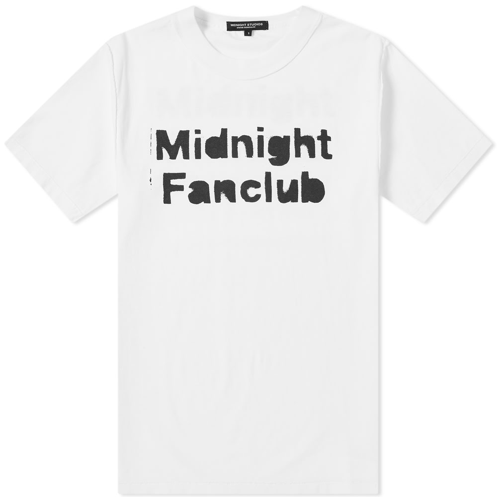MIDNIGHT STUDIOS Midnight Studios Midnight Fanclub Tee in White