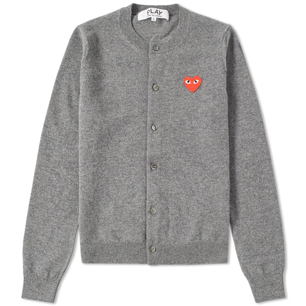 Comme des Garcons Play Women's Cardigan (Grey & Red)