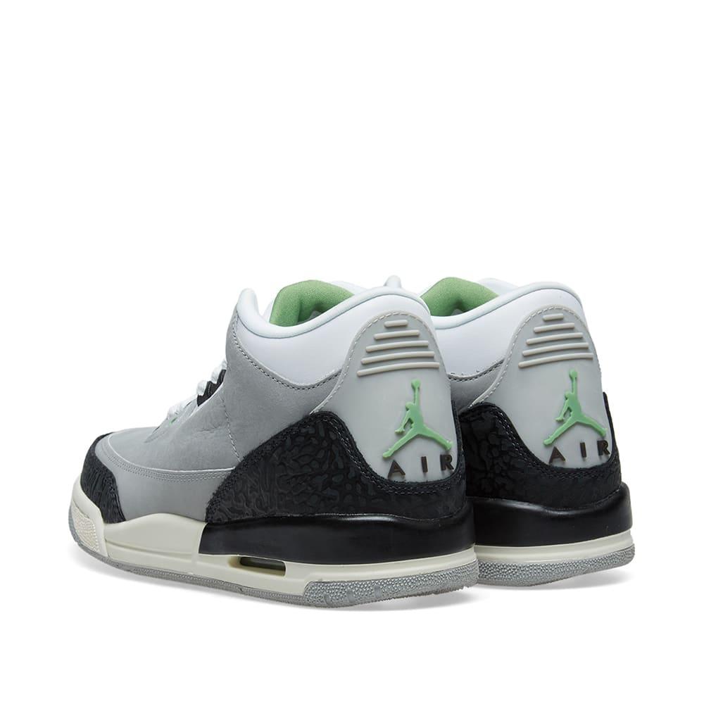 huge discount f3ee5 d29f8 Air Jordan 3 Retro  MJ X Tinker  GS Light Smoke Grey   Chlorophyll   END.