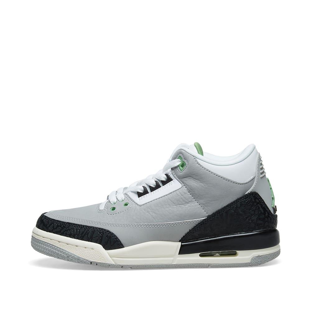 huge discount 63fe0 82b1e Air Jordan 3 Retro  MJ X Tinker  GS Light Smoke Grey   Chlorophyll   END.