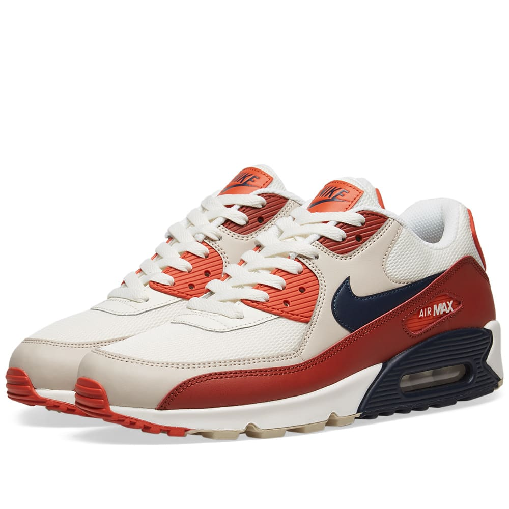official photos 39218 63d72 Nike Air Max 90 Essential Mars Stone, Obsidian   Coral   END.