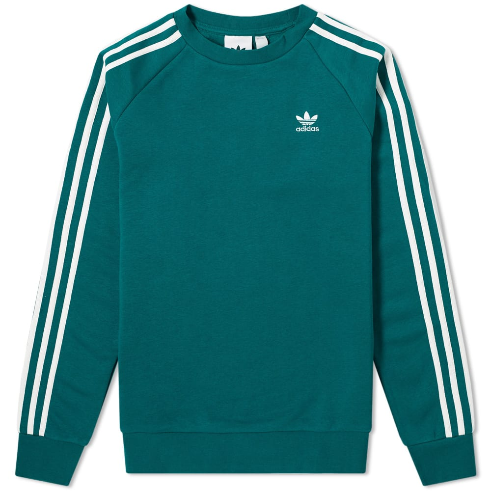 Adidas Adicolor 3 Stripe Crew Sweat by Adidas