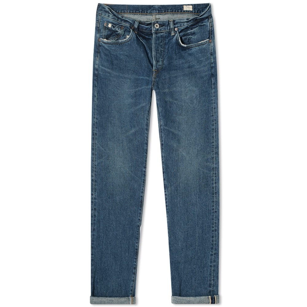 EDWIN E Regular Tapered Jean homme rincés blanc made in japan stretch RRP £ 140