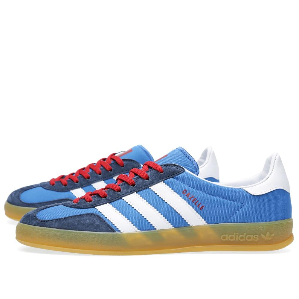 esférico Leyenda Comedia de enredo  Adidas Gazelle Indoor Bluebird & Running White   END.
