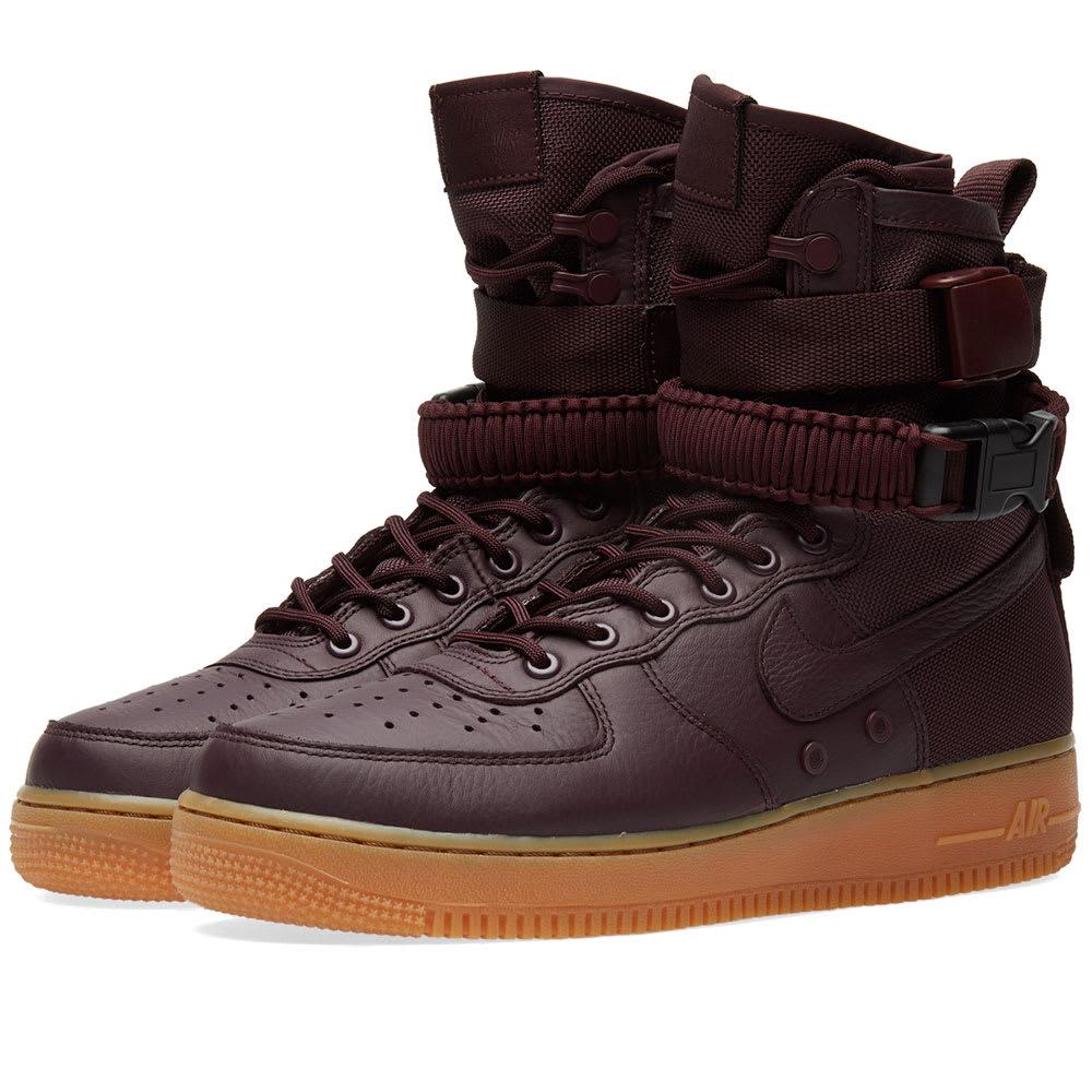 online retailer 89479 71cef Nike SF Air Force 1 Boot Deep Burgundy   END.