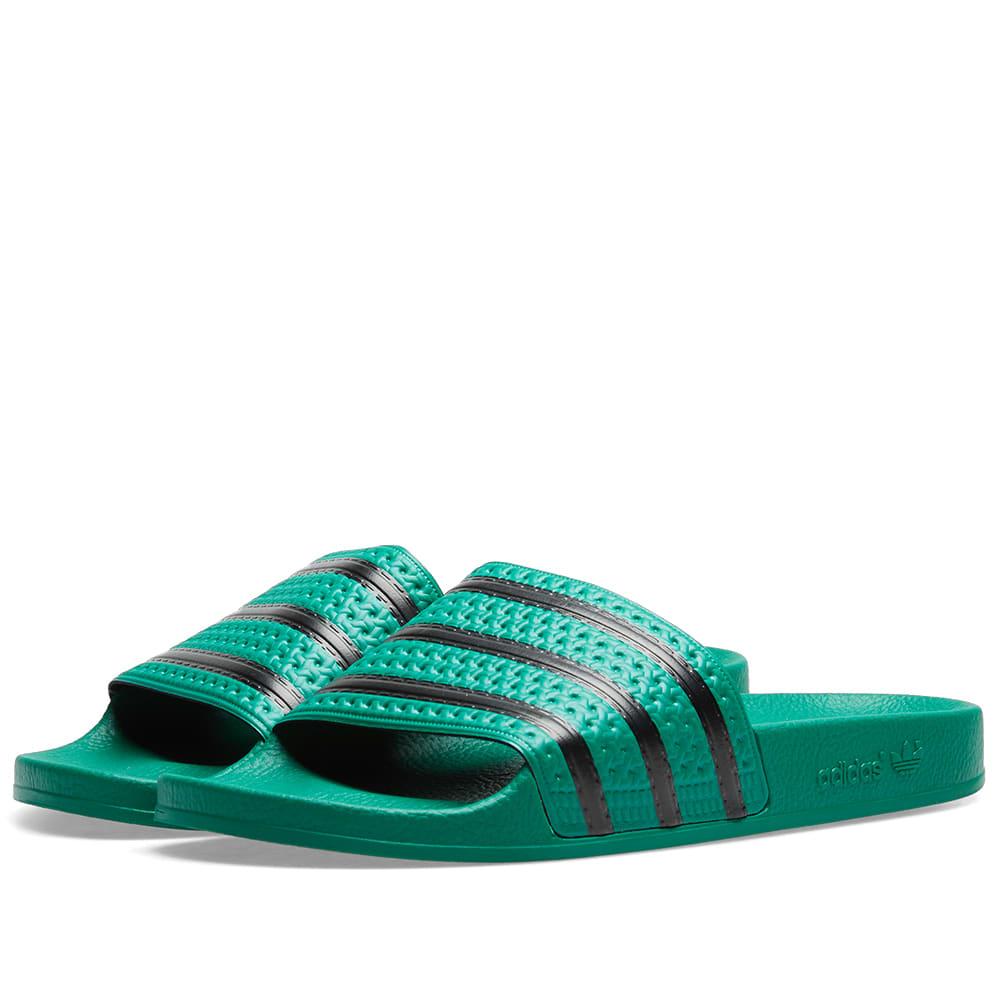 caf408d4e Adidas Originals Adidas Green Adilette Slider Sandals