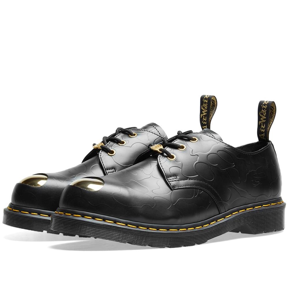 e01c9be610 Dr. Martens x Bape Petri Shoe Black Smooth Emboss | END.