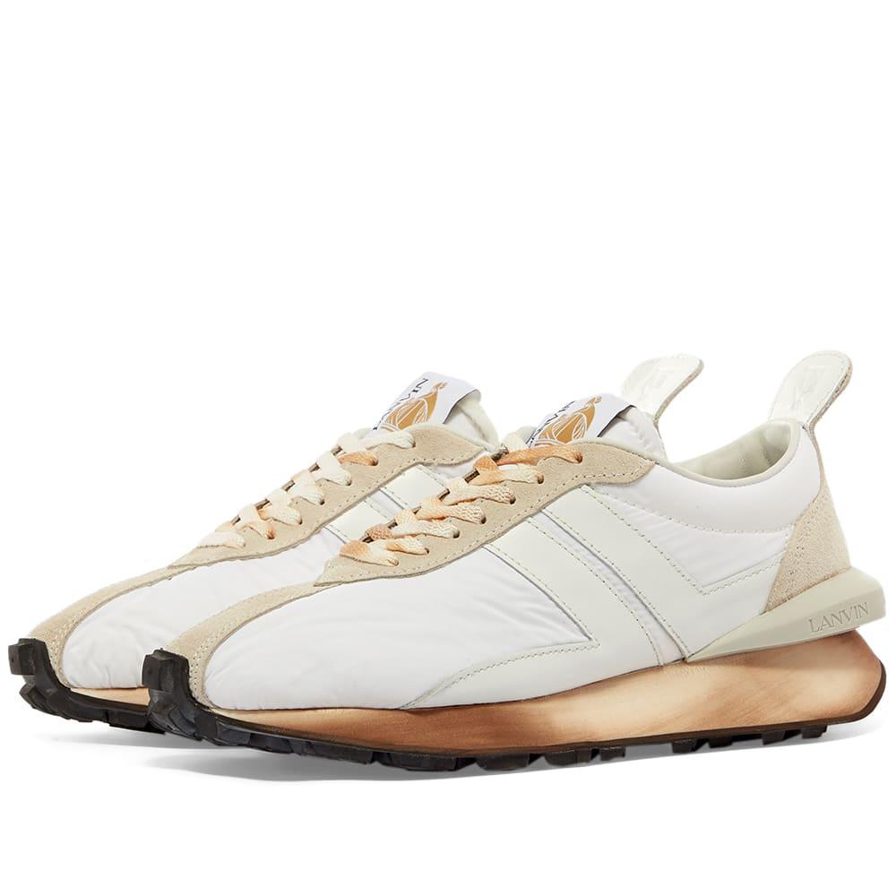 Lanvin Leather Running Sneaker Optic