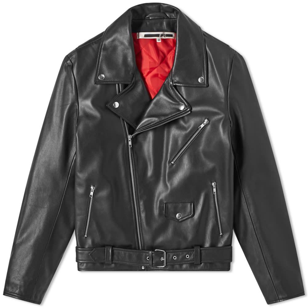 Mc Q Alexander Mc Queen Gang Leather Biker Jacket by Mc Q Alexander Mc Queen