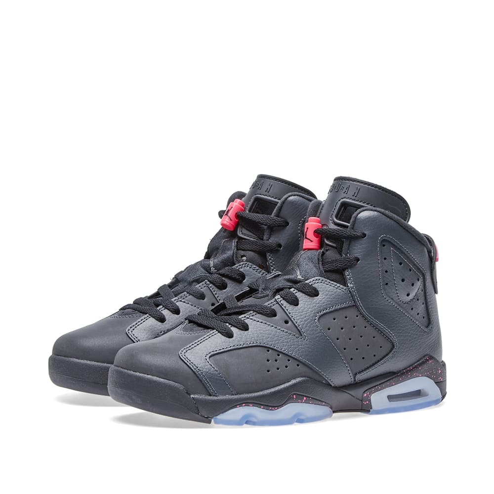 new arrival c973d 94cea Nike Air Jordan 6 Retro GS Anthracite, Black   Hyper Pink   END.