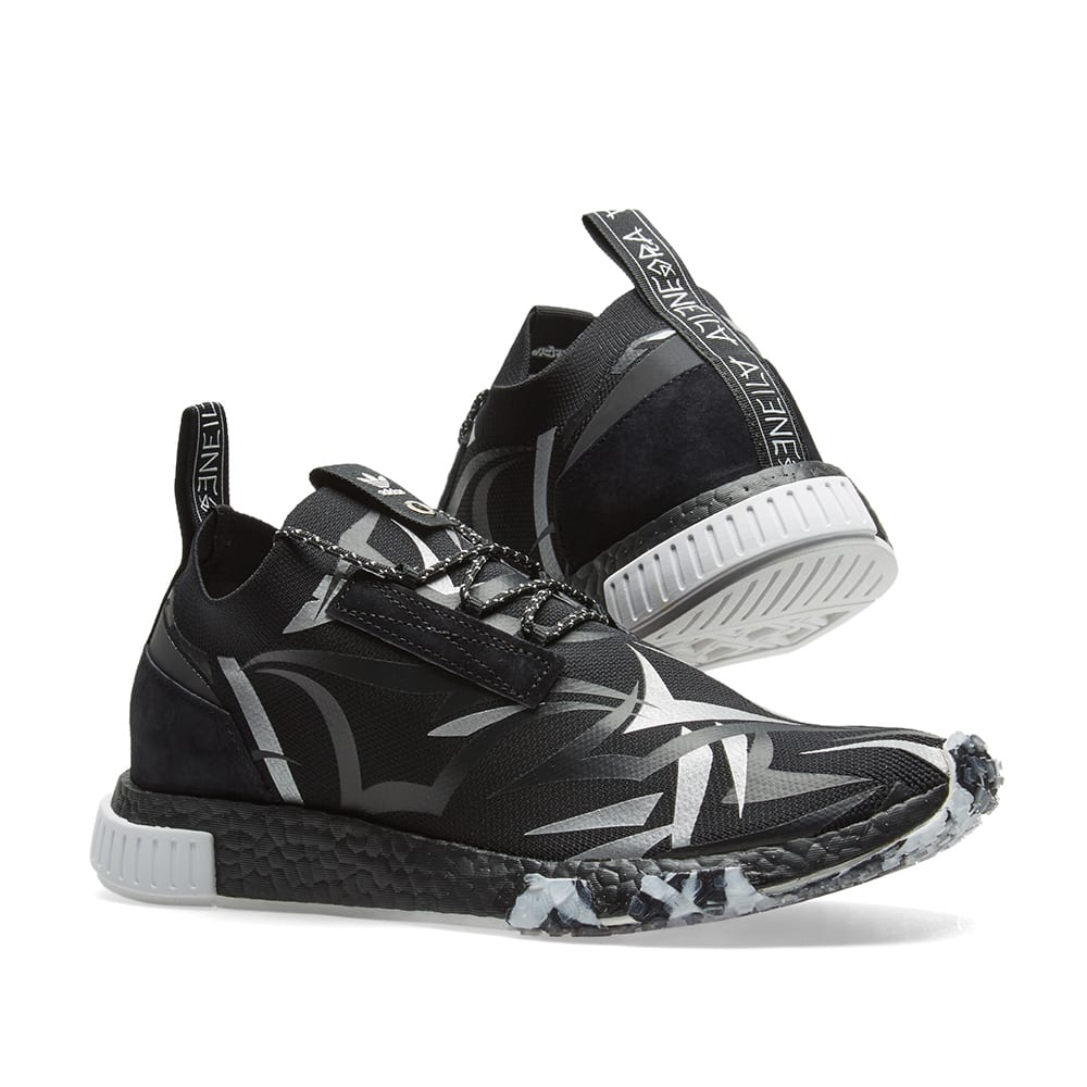 3831aa87bd14f Adidas Consortium x Juice NMD Racer Core Black   White