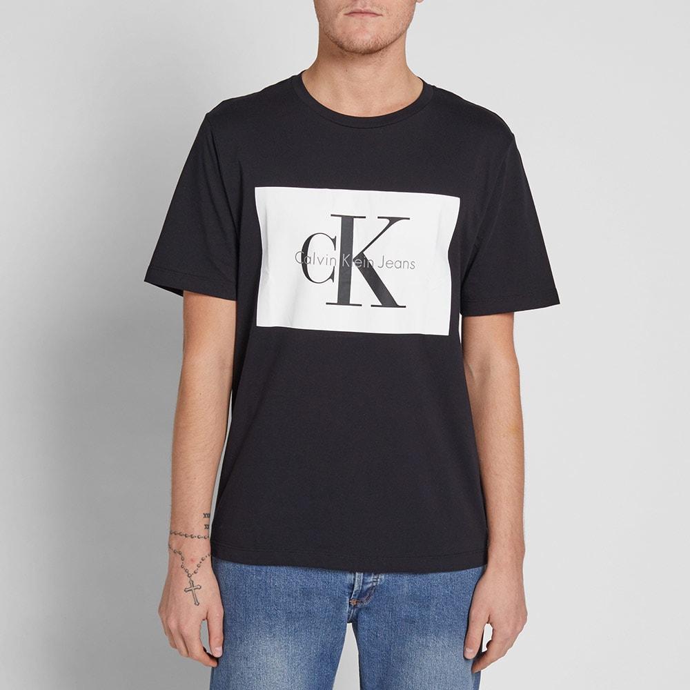 d196831ab45 Calvin Klein Box Logo Tee CK Black