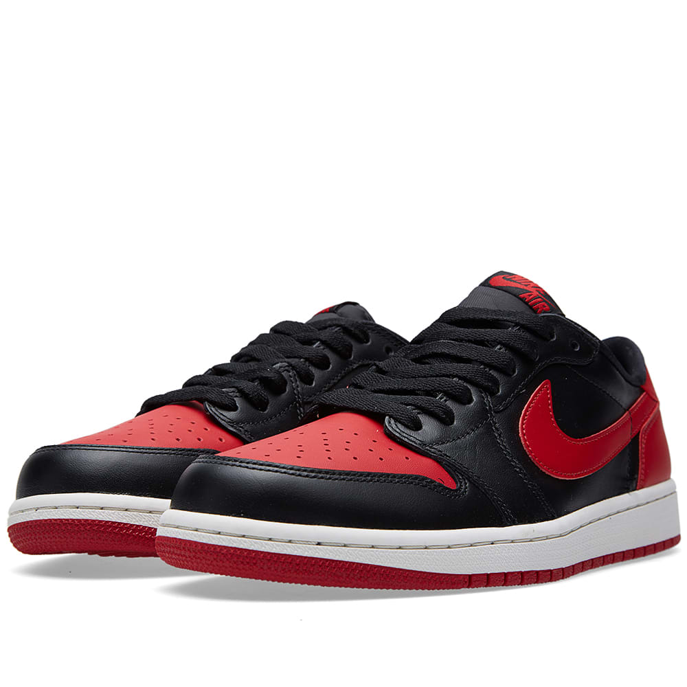 reputable site c4876 d1b35 Nike Air Jordan 1 Retro Low OG  Bred  Black, Varsity Red   Sail   END.